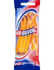 Polsilver-2 Jednoczęściowa Maszynka Do Golenia 10szt – podwójne ostrze pokryte platyną i chromem