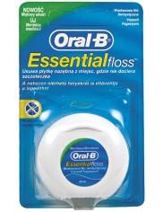 Oral-B Essential Floss Woskowa Nić Dentystyczna (50 metrów) – o miętowym smaku, odporna na strzępienie