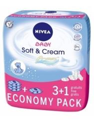 Nivea Baby Soft & Cream 3+1 Economy Pack – chusteczki nawilżane dla dzieci