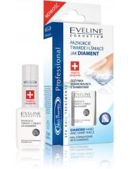 Eveline Nail Therapy Odżywka Wzmacniająca z Diamentami 12ml – chroni paznokcie przed łamaniem i rozdwajaniem