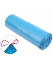 Kuchcik Worki Na Śmieci LDPE 120L 10szt – niebieskie z taśmą ściągającą