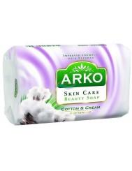 Arko Creamy Bawełna i Krem 90g – zmiękczające mydło kosmetyczne