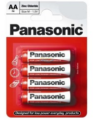 Panasonic Baterie AA 1.5V R6 4 szt