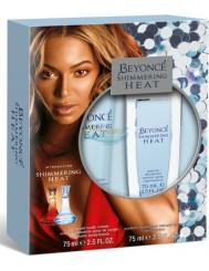 Beyonce Shimmering Heat Zestaw dla Kobiet Dezodorant w Naturalnym Sprayu 75 ml + Balsam do Ciała 75 ml