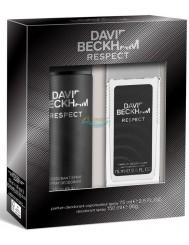 David Beckham Respect Zestaw Męski - Dezodorant Spray 150 ml + Dezodorant w Naturalnym Sprayu 75 ml