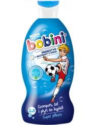 Bobini Super Piłkarz 3-w-1 Szampon, Żel i Płyn do Kąpieli 330 ml – dla małych fanów piłki nożnej