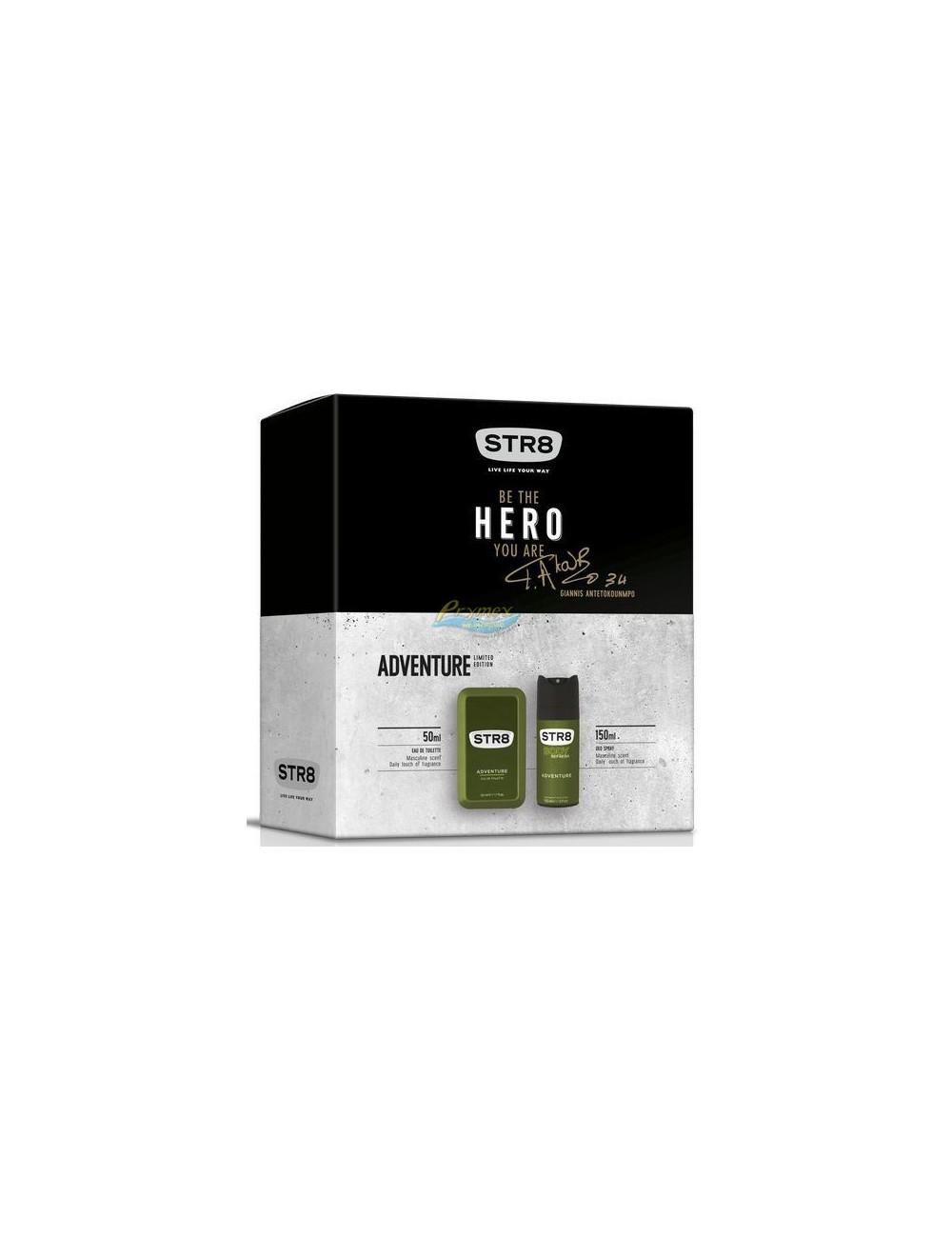 STR8 Hero Adventure Zestaw dla Mężczyzn Woda Toaletowa 50 ml + Dezodorant w Aerozolu 150 ml
