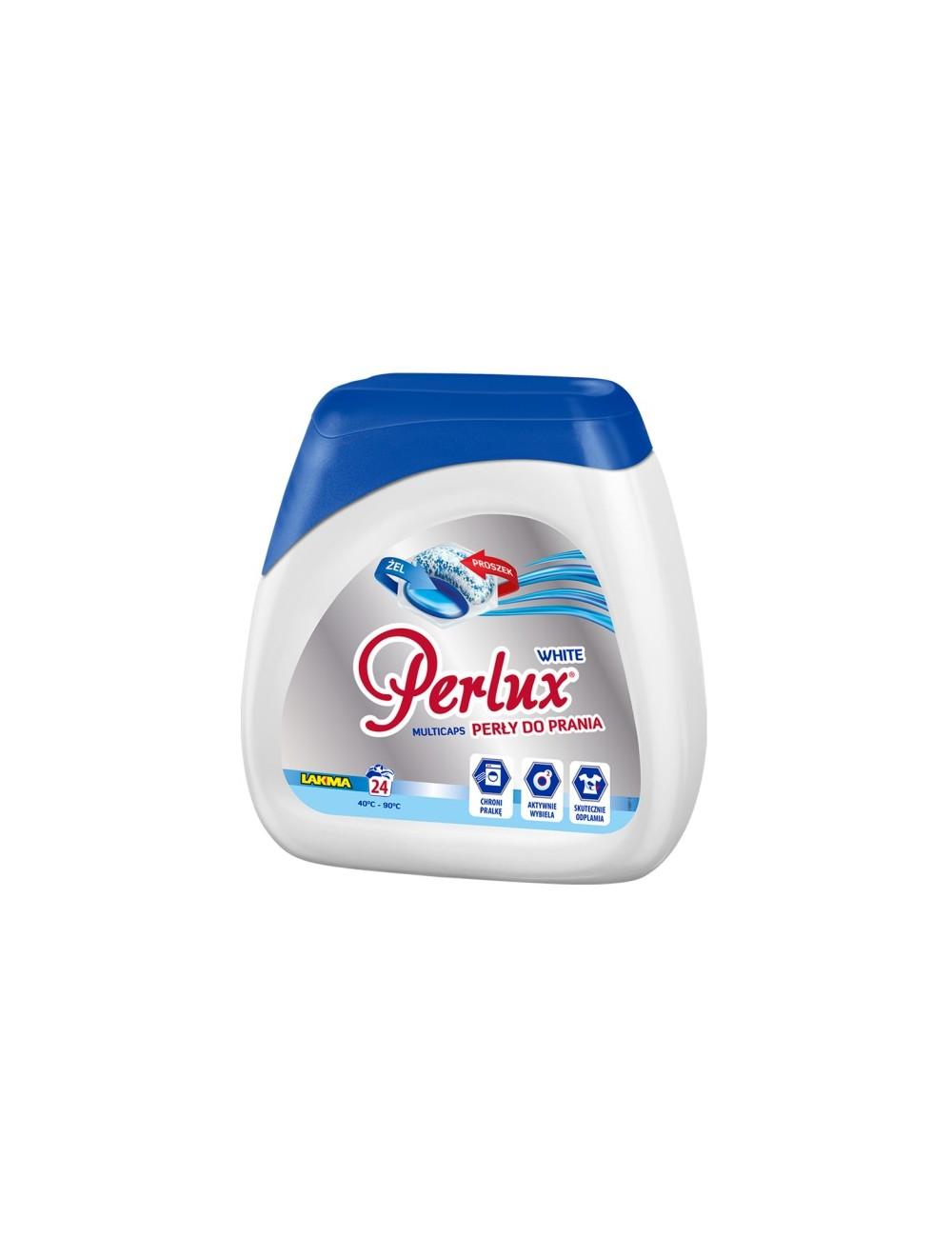 Perlux White 24 sztuki – żelowe kapsułki do prania z proszkiem