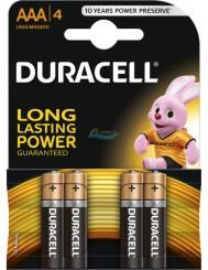 Duracell Baterie Alkaiczne LR03 AAA 4szt