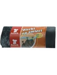 Kuchcik Worki na Śmieci HDPE 60 L Czarne 50 szt