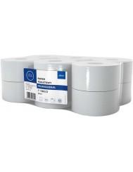 Ellis Professional T100-2 Papier Toaletowy Biały 2 Warstwy 100% Celuloza 12 szt – wysokość 9 cm