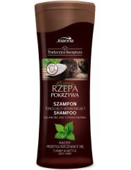 Joanna Tradycyjna Receptura Rzepa i Pokrzywa Szampon z Odżywką do Włosów Przetłuszczających się 300 ml