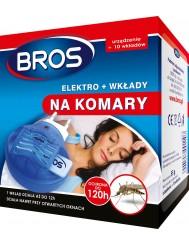 Bros Elektro + 10 Wkładów Na Komary – elektrofumigator z wkładami nasączonymi substancją czynną