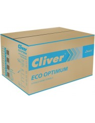 Cliver Eco Optimum Ręczniki Zielone ZZ Składane Typu V (4000 listków)