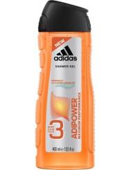 Adidas Adipower 3-w-1 Męski Żel pod Prysznic do Ciała Włosów i Twarzy 400 ml