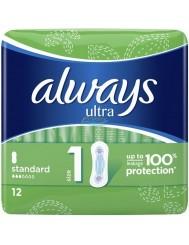 Always Ultra Standard Podpaski Higieniczne 12 szt