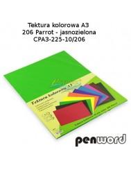 Tektura Kolorowa A3 Jasny Zielony (10 Arkuszy)