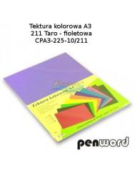 Tektura Kolorowa A3 Fioletowy (10 Arkuszy)