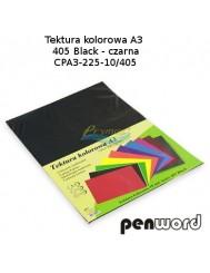 Tektura Kolorowa A3 Czarny (10 Arkuszy)