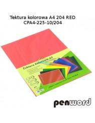 Tektura Kolorowa A4 Czerwony (10 Arkuszy)