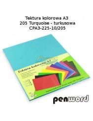 Tektura Kolorowa A3 Turkusowy (10 Arkuszy)