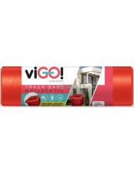 Vigo Czerwone Worki na Śmieci LDPE 120L 7 szt