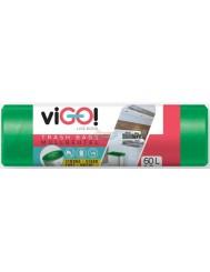 Vigo Zielone Worki na Śmieci LDPE 60L 10 szt