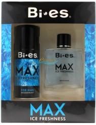Bi-es Max Ice Freshness Zestaw dla Mężczyzn – Płyn po Goleniu 100 ml + Dezodorant w Aerozolu 150 ml