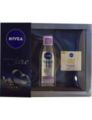 Nivea Care Premium Pielęgnujący Płyn Micelarny 200 ml + Krem Q10 Power Przeciwzmarszczkowy Odżywczy 50 ml
