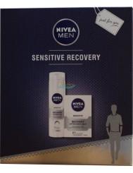Nivea Men Sensitive Recovery Zestaw dla Mężczyzn – Regenerująca Pianka do Golenia 200 ml + Balsam po Goleniu 100 ml