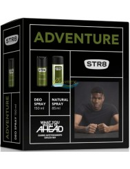 STR8 Adventure Zestaw dla Mężczyzn – Dezodorant w Aerozolu 150 ml + Dezodorant Natural Spray 85 ml