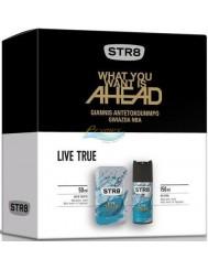 STR8 Live True Zestaw dla Mężczyzn – Woda Toaletowa 50 ml + Dezodorant w Aerozolu 150 ml