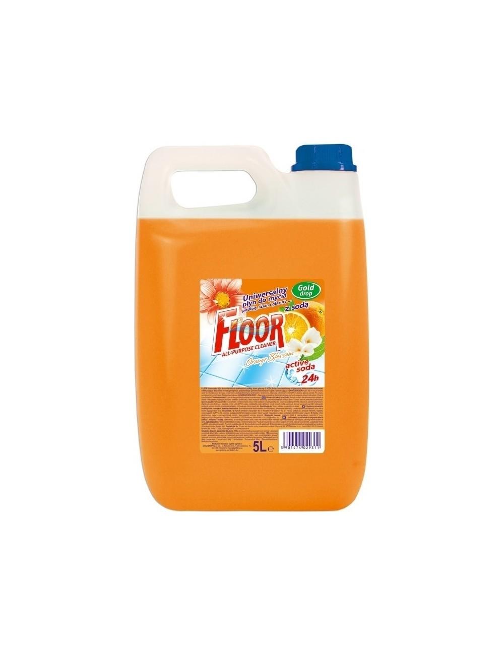 Floor Orange Blossom Uniwersalny Płyn do Mycia Podłóg Ścian i Glazury z Sodą 5 L