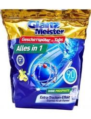 Glanz Meister Alles-in-1 Cytryna Niemieckie Tabletki do Zmywarki 90 szt
