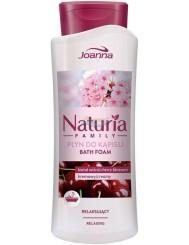 Joanna Naturia Family Kwiat Wiśni Kremowy Relaksujący Płyn do Kąpieli 750 ml