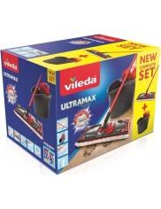Vileda Ultramax Zestaw Mop Płaski + Wiadro + Wyciskacz