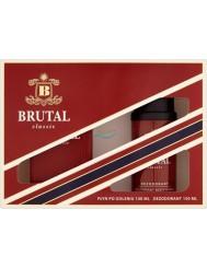 Brutal Classic Zestaw dla Mężczyzn – Płyn po Goleniu 100 ml + Dezodorant 150 ml