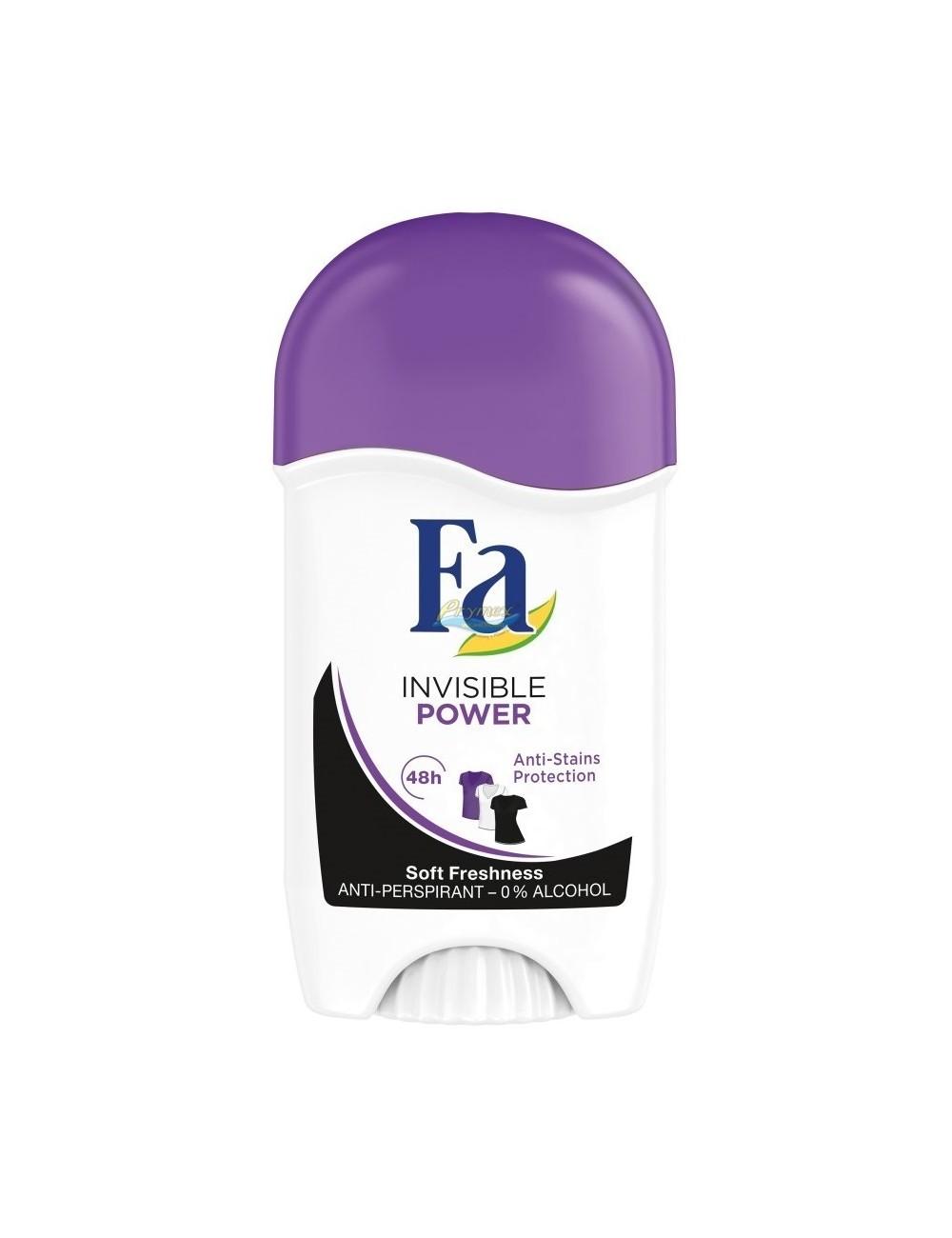 Fa Invisible Power 48h Antyperspirant Przeciw Plamom na Ubraniach w Sztyfcie dla Kobiet 50 ml