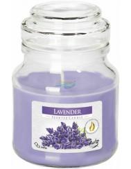 Aura Scented Candle Lavender Świeca Zapachowa w Szklanym Słoiku z Wieczkiem 1 szt