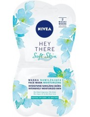 Nivea Hey There Soft Skin Maska Nawilżająca do Wszystkich Typów Skóry (2 x 7,5 ml)