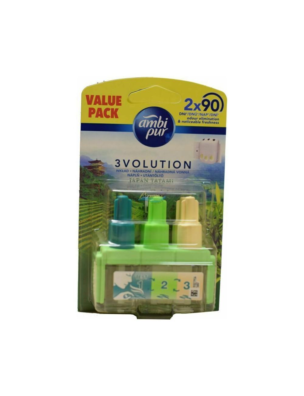 Ambi Pur 3Volution Japan Tatami Wkład do Odświeżacza Powietrza (2 szt x 3 butelki)