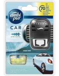 Ambi Pur Car Ocean Mist Samochodowy Odświeżacz Powietrza Urządzenie + Wkład 7 ml