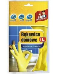 Jan Niezbędny Rękawice Domowe Wyściełane Bawełną Mix Kolorów (rozmiar L) 1 szt