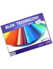 Blok Techniczny A3 z Kolorowymi Kartkami  1 szt