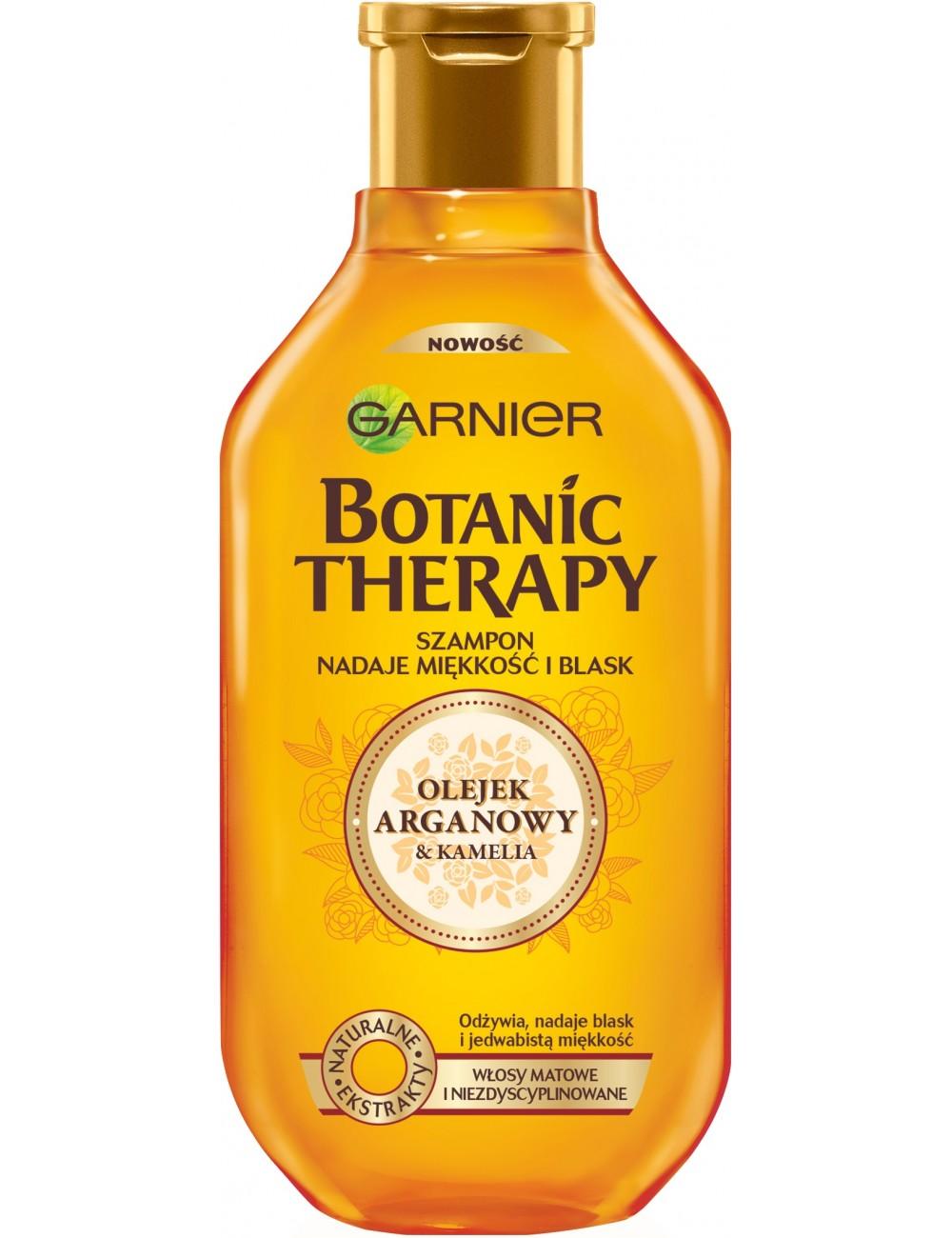 Garnier Botanic Therapy Olejek Arganowy i Kamelia Szampon Nadający Miękkość i Blask do Włosów 400 ml
