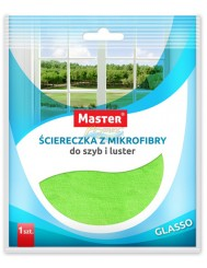 Master Glasso Ściereczka z Mikrofibry do Szyb i Luster 1 szt