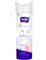 Bella Cotton Wiping & Cleaning Bawełniane Płatki Kosmetyczne 80 szt