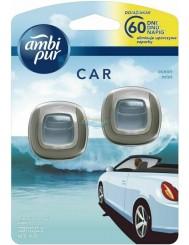 Ambi Pur Car Ocean Mist Samochodowy Odświeżacz Powietrza (2 x 2 ml)