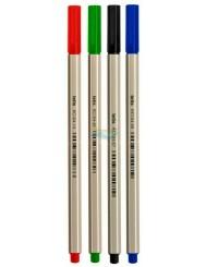 Cienkopisy Mix Żywych Nieblaknących Kolorów (końcówka 0,7 mm) 4 szt