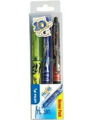Pilot Clicker Frixion Długopisy Wymazywalne Zestaw (niebieski i czarny) 2 szt + Żółty Zakreślacz